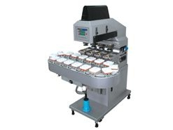Four Color Pad Printer with 16 Stations Conveyor (Open Tray System)