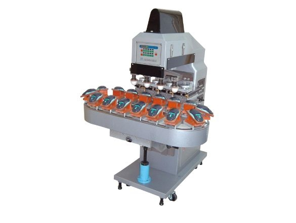 Four Color Pad Printer with 16 Stations Conveyor (Ink Cup